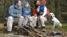 family in wilderness