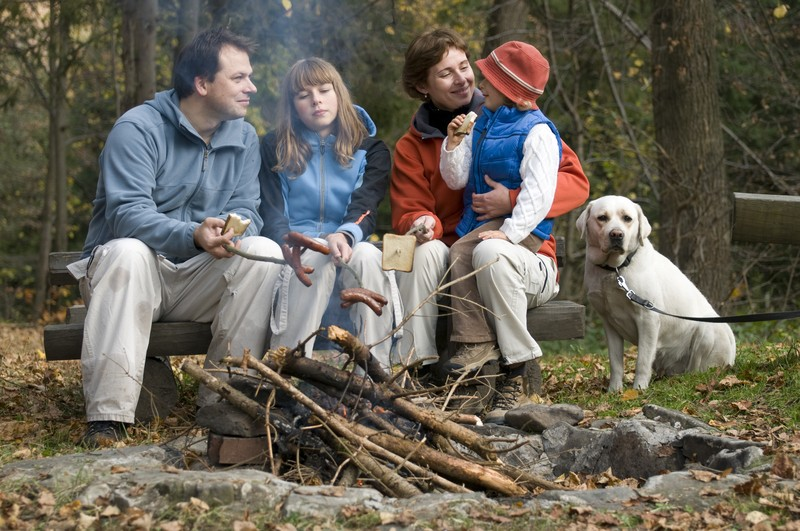 family in wilderness