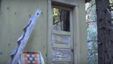 abandoned bug out cabin