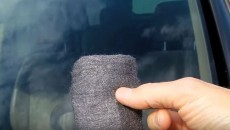 using steel wool on your windshield