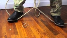 cutting a rope with rope