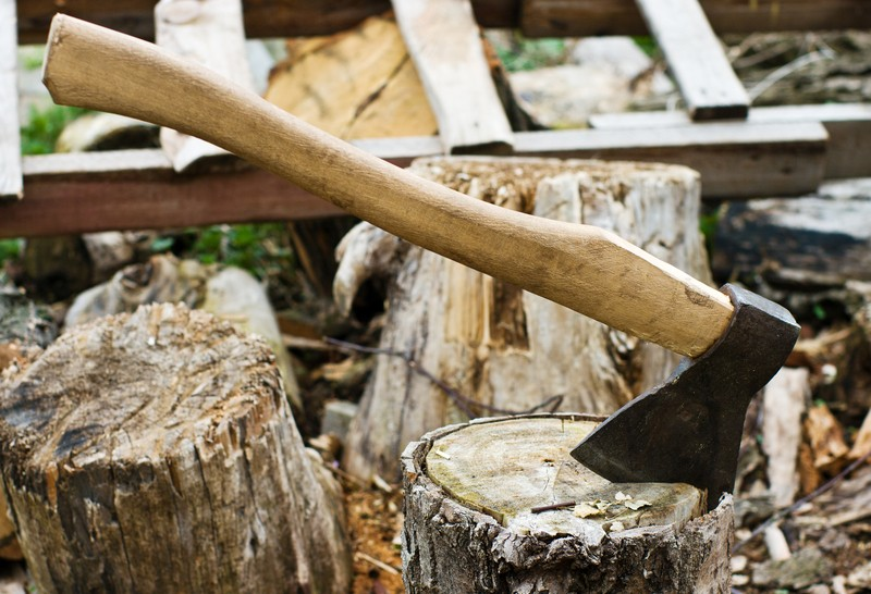 using an ax