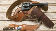 revolver holster and knife