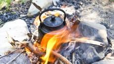 tea kettle on fire