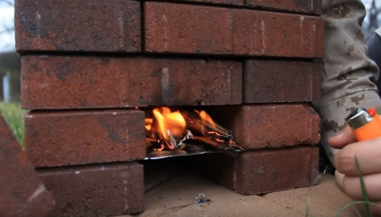 Video this diy brick rocket stove is truly mind boggling for Brick jet stove