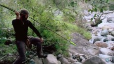 atlatl catching a fish