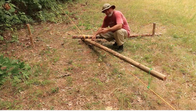 logs and rope flip flop winch