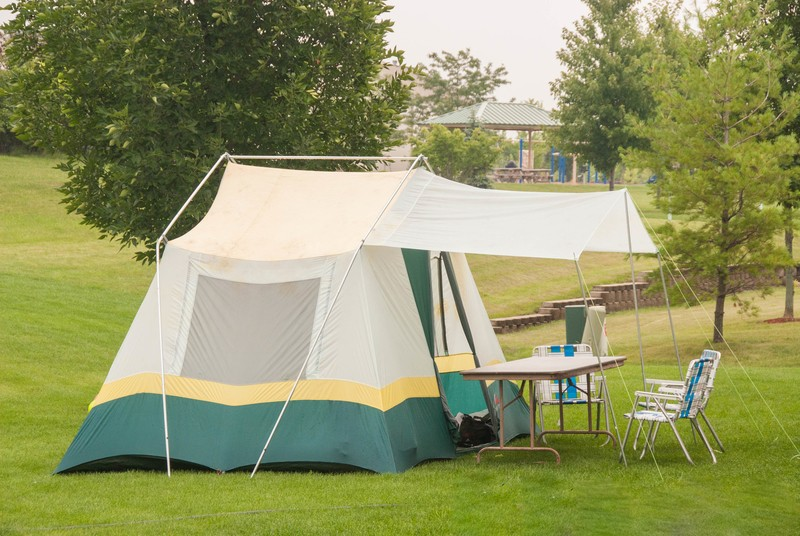 backyard tent setup