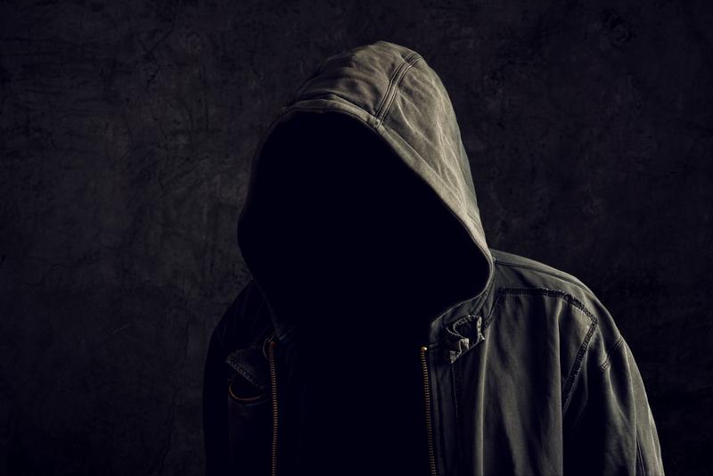 hidden faceless grey man