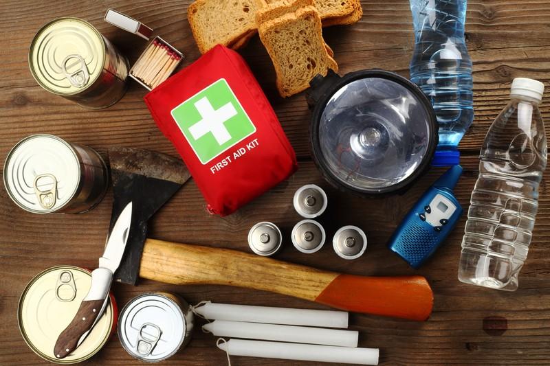 medicine and survival supplies
