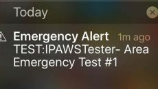 IPAWS phone alert