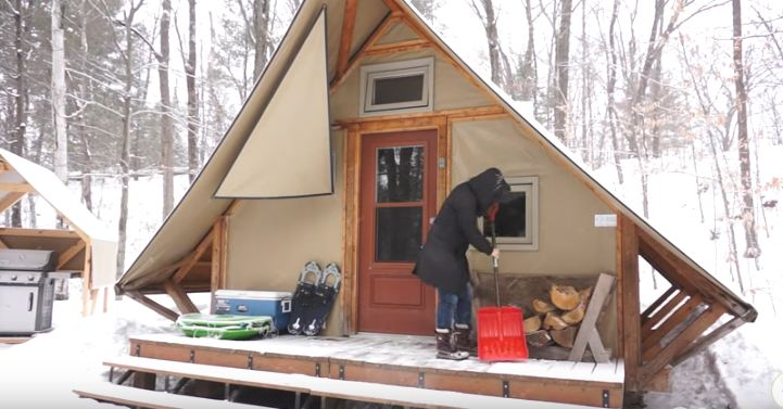 winter-tiny-house & Video) This Tiny House Tent Alternative is Truly Something! Check ...