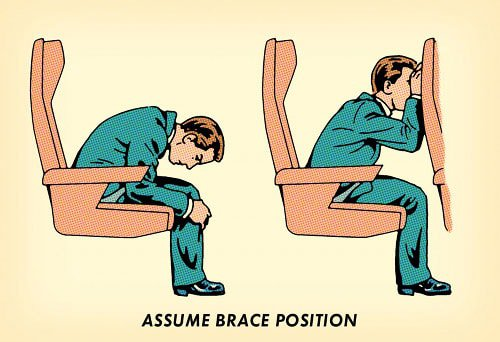 plane crash brace position