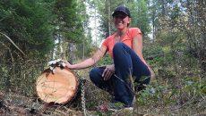 homesteader winching-trees