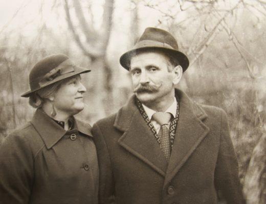 ancestors couple-bundled-up
