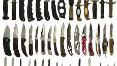 a bunch of knives