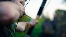 archery man aiming