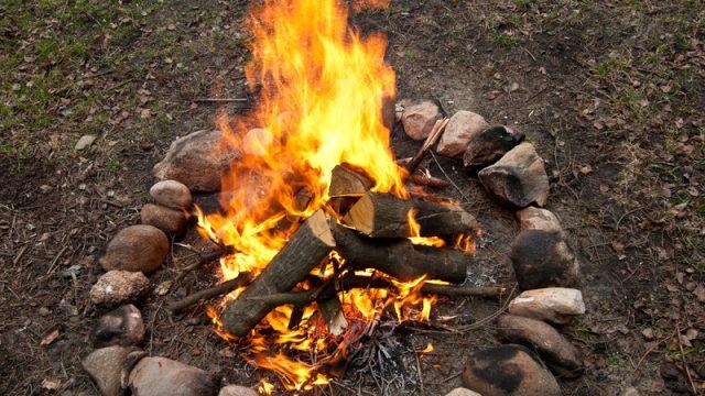 wood ash camp fire