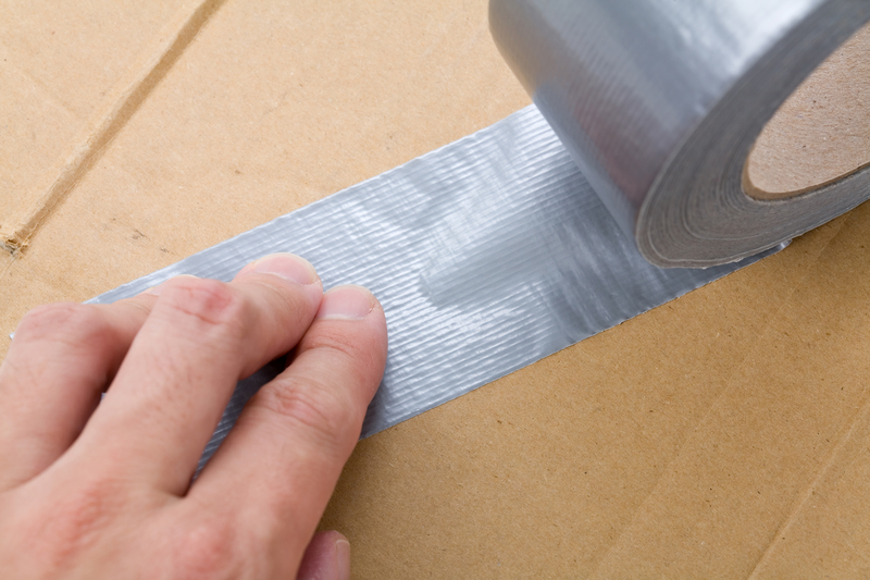 using duct tape