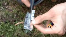 gum wrapper fire hack