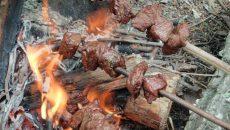 skewers cooking