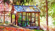 stained glass cabin