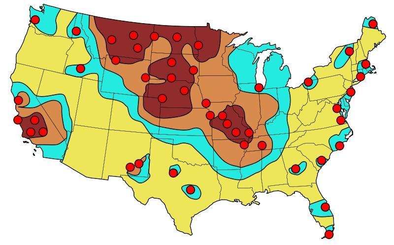 target map