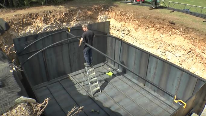 Shtf Shelter: (Video) Be In Awe As A Prepper Completes A Survival Bunker
