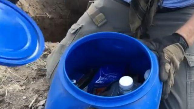 hidden cache container