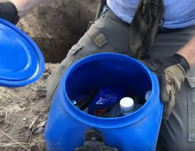 hidden cache container
