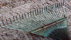 metal rake