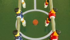 table soccer football field