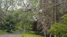 damaged power lines after storm