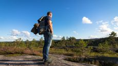 man in wilderness