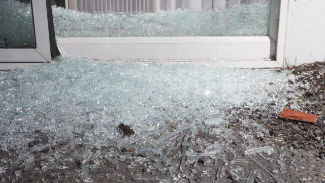door broken glass home security
