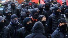 Antifa members