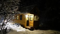 off grid winter home