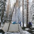 winter survival shelter teepee