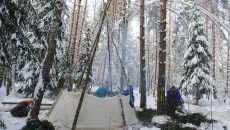 winter survival shelter teepee