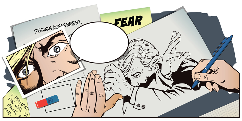 afraid man comic